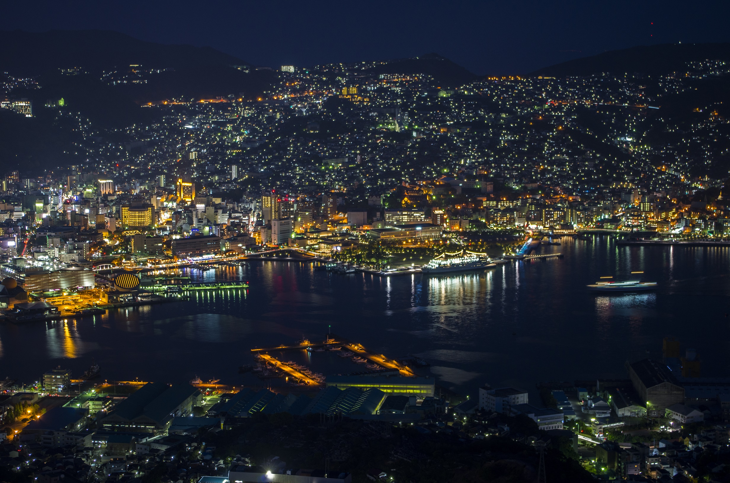 Nagasaki at night