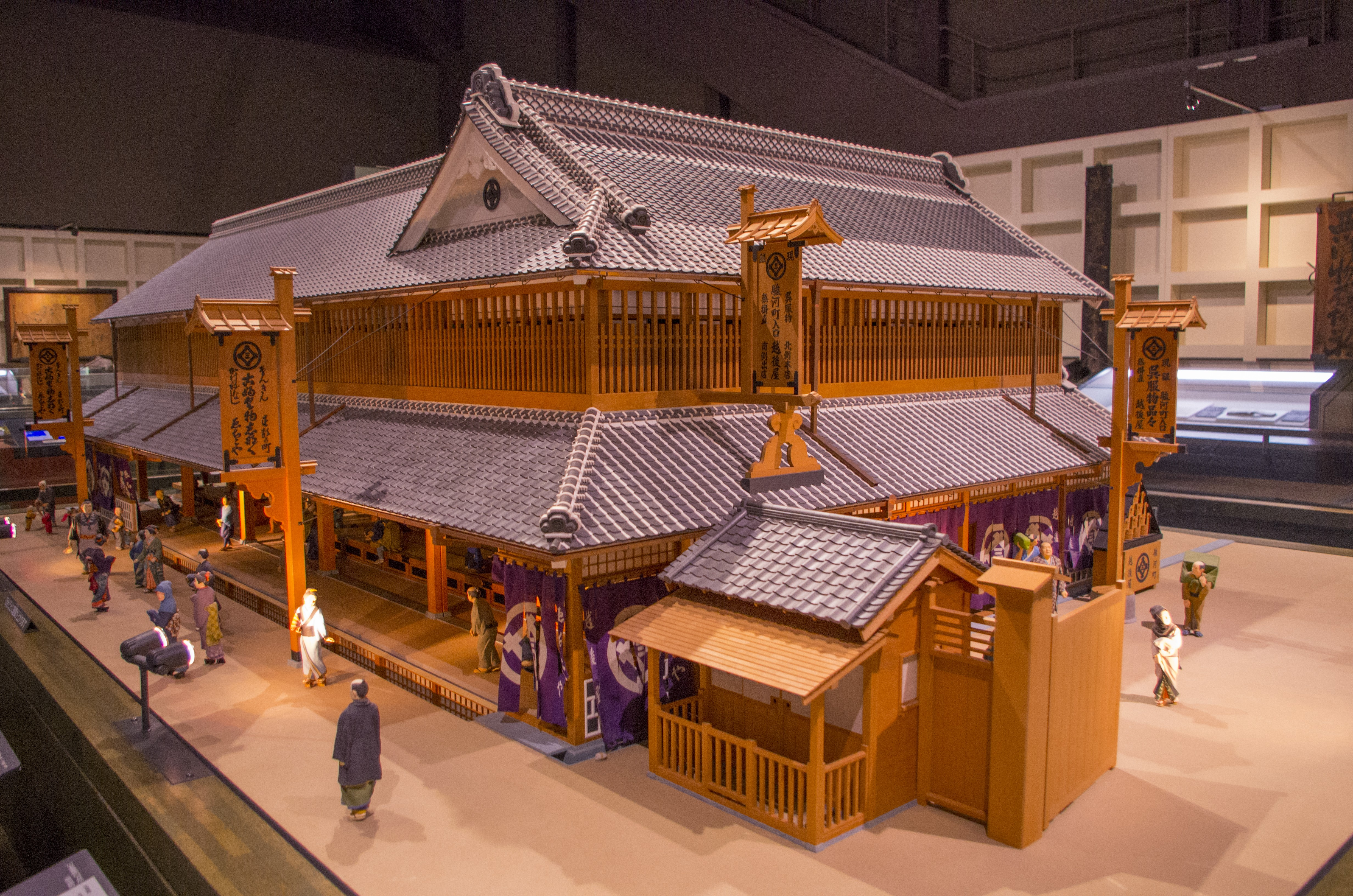 I can't remember what building's model is that supposed to be, but it is related to Edo times of Tokyo