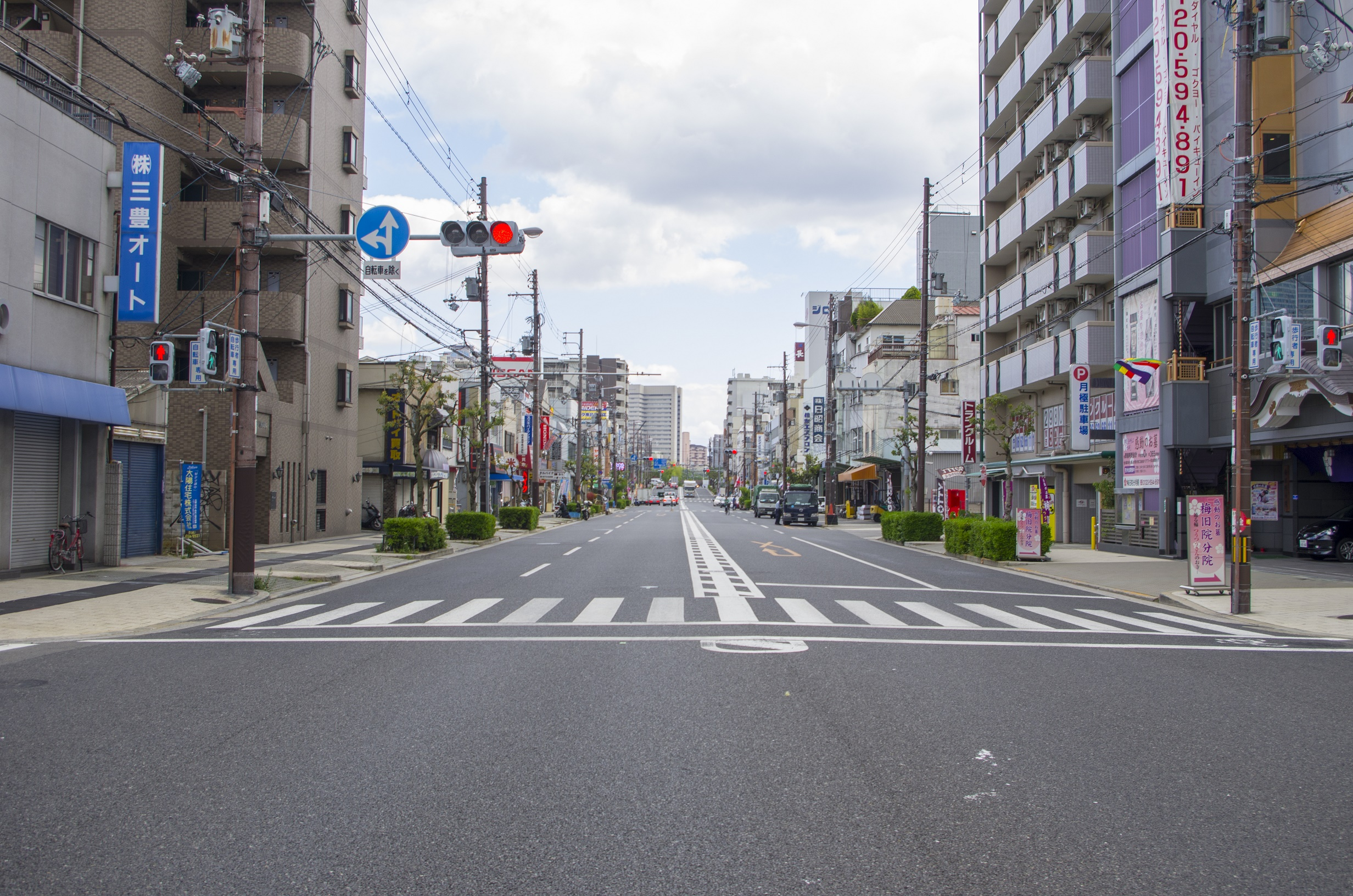 One of the streets in Osaka, close to Denden Town