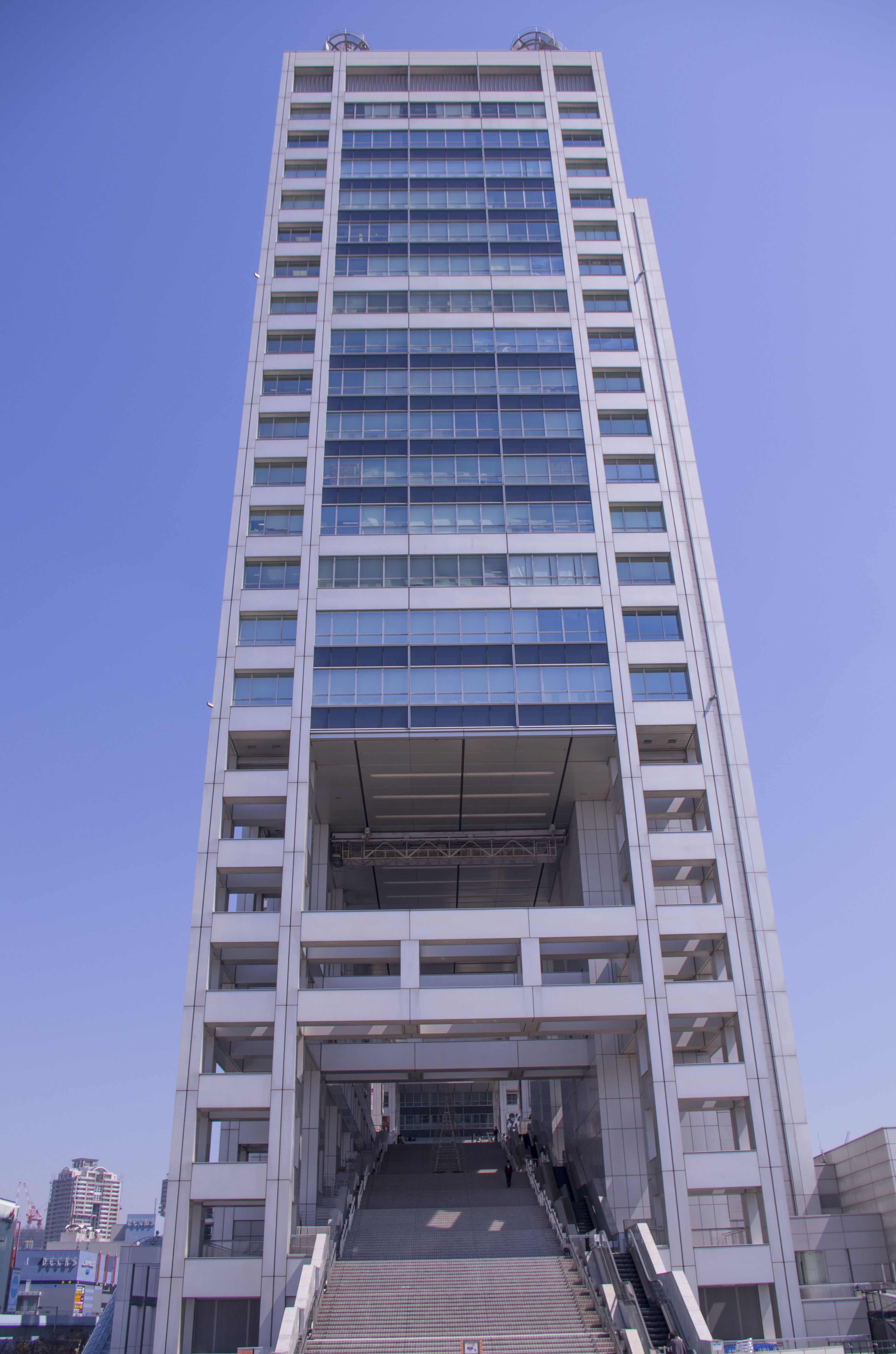 Side entrance to Fuji TV building